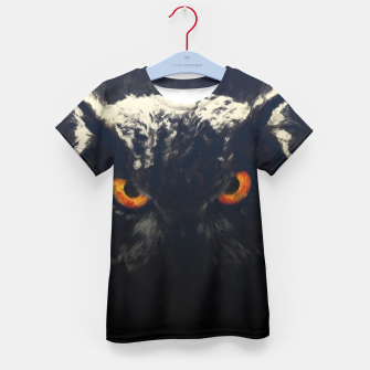owl look digital painting orcfnd Kid's t-shirt miniature