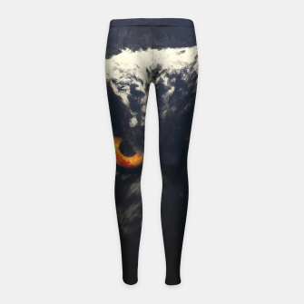 owl look digital painting orcfnd Girl's leggings thumbnail image