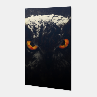 owl look digital painting orcfnd Canvas miniature