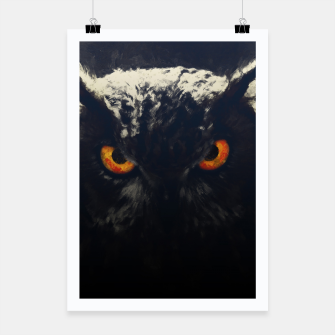 owl look digital painting orcfnd Poster miniature