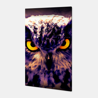 owl look digital painting reacls Canvas miniature
