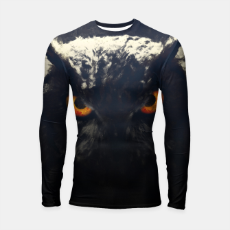 Thumbnail image of owl look digital painting orcfnd Longsleeve rashguard , Live Heroes