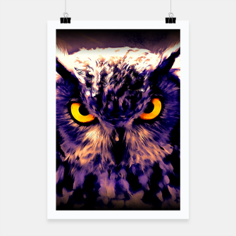 owl look digital painting reacls Poster miniature