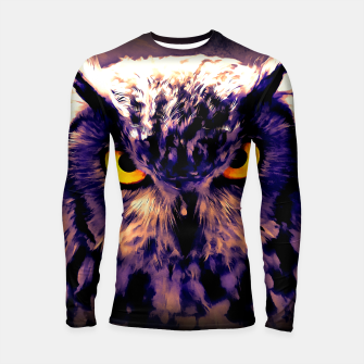 owl look digital painting reacls Longsleeve rashguard  miniature
