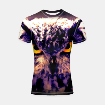 Thumbnail image of owl look digital painting reacls Shortsleeve rashguard, Live Heroes