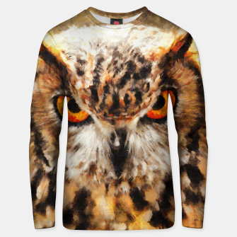 Thumbnail image of owl look digital painting orcstd Unisex sweater, Live Heroes