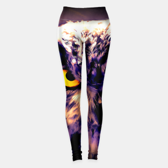 Thumbnail image of owl look digital painting reacls Leggings, Live Heroes