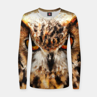 owl look digital painting orcstd Women sweater thumbnail image