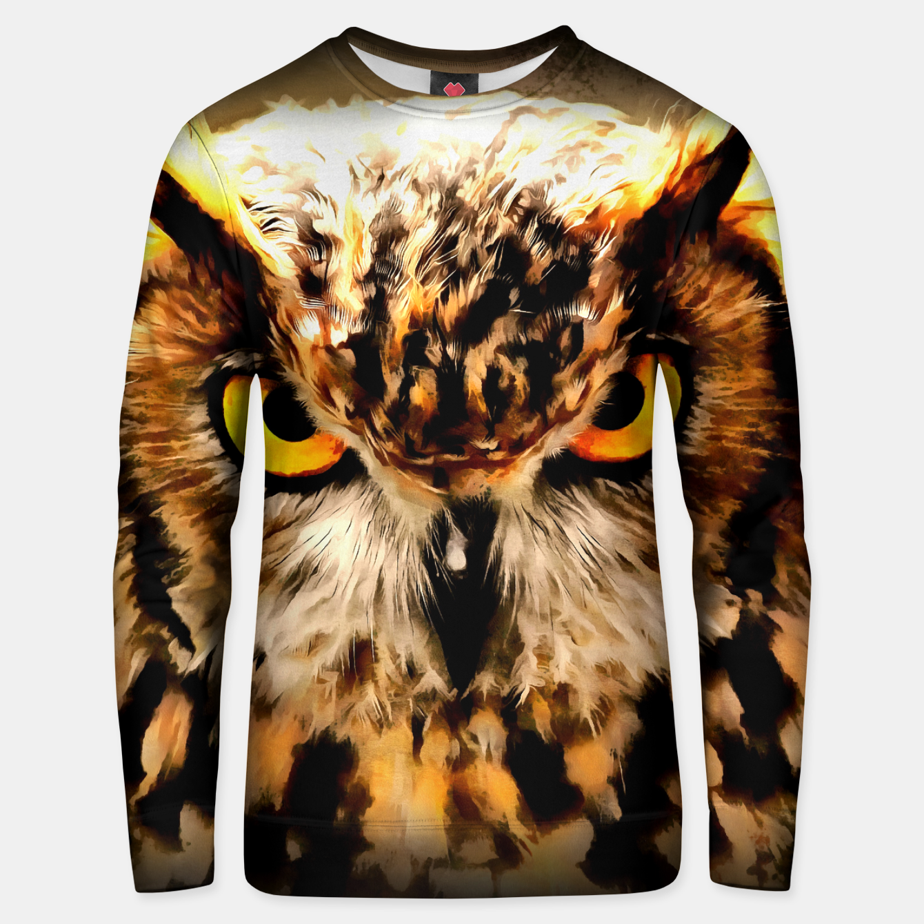 Image de owl look digital painting reacstd Unisex sweater - Live Heroes