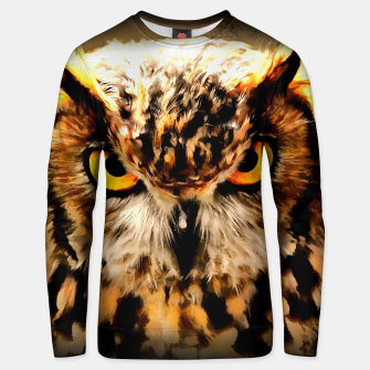 owl look digital painting reacstd Unisex sweater miniature