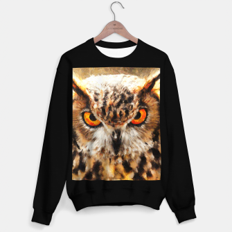 owl look digital painting orcstd Sweater regular miniature