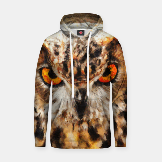 Thumbnail image of owl look digital painting orcstd Hoodie, Live Heroes