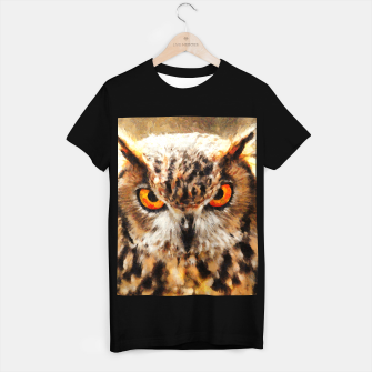 Thumbnail image of owl look digital painting orcstd T-shirt regular, Live Heroes