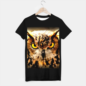 owl look digital painting reacstd T-shirt regular miniature