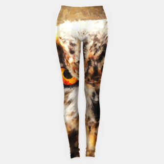 owl look digital painting orcstd Leggings miniature