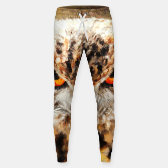 owl look digital painting orcstd Sweatpants miniature