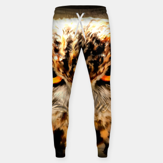 owl look digital painting reacstd Sweatpants miniature
