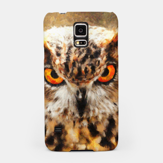 owl look digital painting orcstd Samsung Case miniature