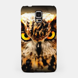 owl look digital painting reacstd Samsung Case miniature