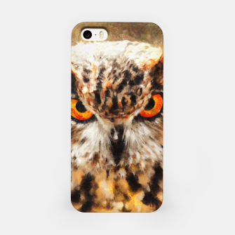 owl look digital painting orcstd iPhone Case miniature