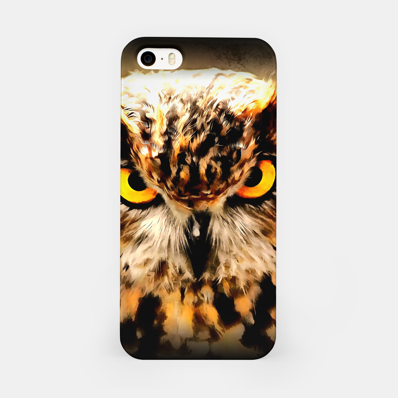 Image de owl look digital painting reacstd iPhone Case - Live Heroes