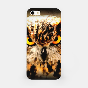 owl look digital painting reacstd iPhone Case miniature
