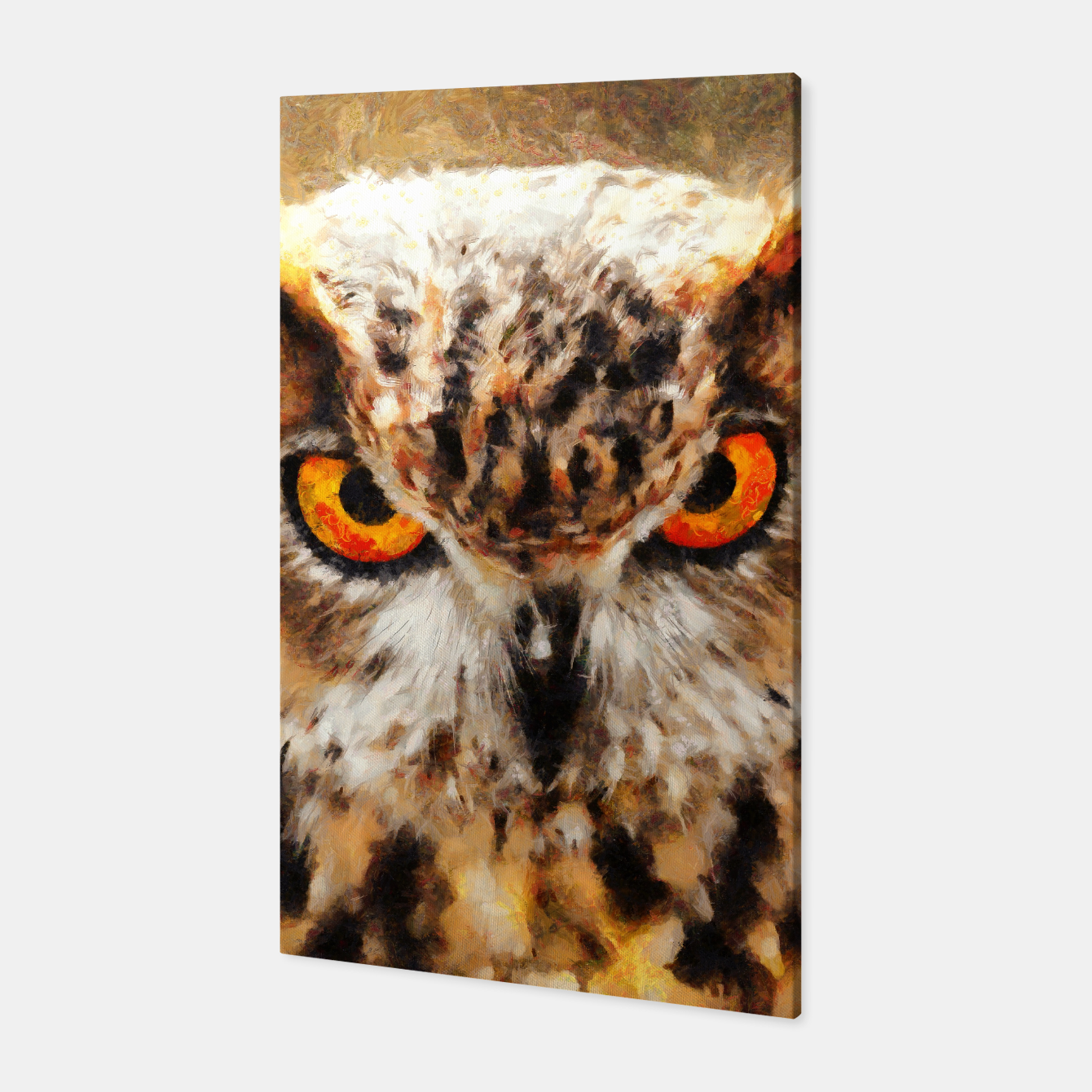 Image of owl look digital painting orcstd Canvas - Live Heroes