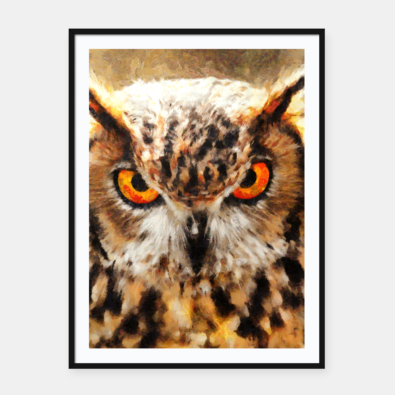 Image of owl look digital painting orcstd Framed poster - Live Heroes