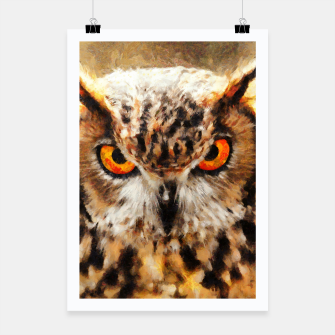 owl look digital painting orcstd Poster miniature