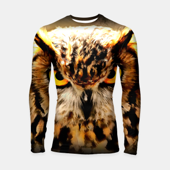 Thumbnail image of owl look digital painting reacstd Longsleeve rashguard , Live Heroes
