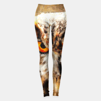 Thumbnail image of owl look digital painting orcstd Leggings, Live Heroes