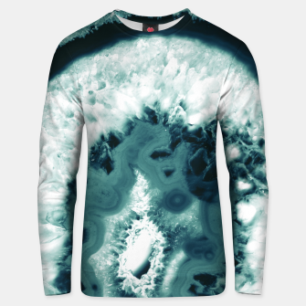 Thumbnail image of Teal Agate Glamor #1 #gem #decor #art  Unisex sweatshirt, Live Heroes