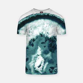 Teal Agate Glamor #1 #gem #decor #art  T-Shirt obraz miniatury