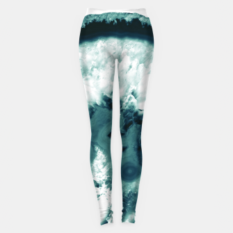 Teal Agate Glamor #1 #gem #decor #art  Leggings miniature