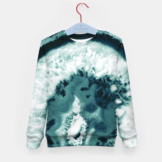 Thumbnail image of Teal Agate Glamor #1 #gem #decor #art  Kindersweatshirt, Live Heroes