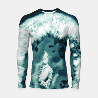 Teal Agate Glamor #1 #gem #decor #art  Longsleeve rashguard miniature