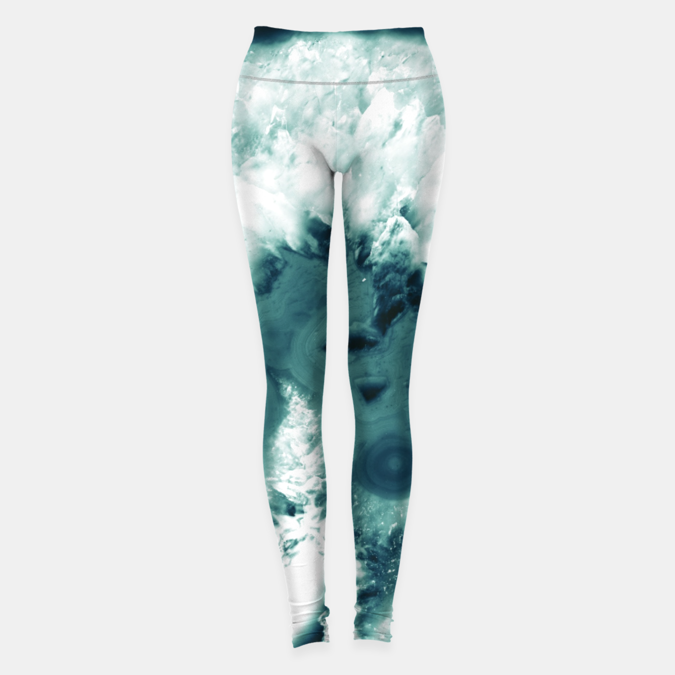 Zdjęcie Teal Agate Glamor #1 #gem #decor #art  Leggings - Live Heroes