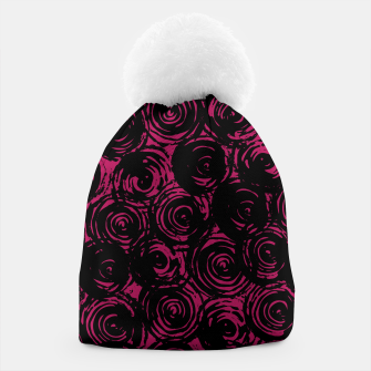 Miniatur Black And Pink Abstract Circles Beanie, Live Heroes
