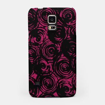 Miniatur Black And Pink Abstract Circles Samsung Case, Live Heroes