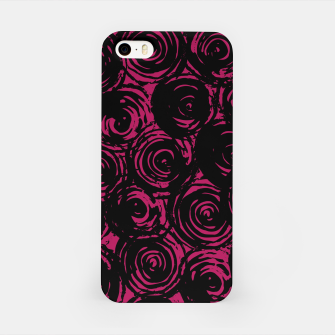 Thumbnail image of Black And Pink Abstract Circles iPhone Case, Live Heroes