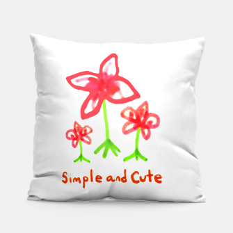 Miniaturka Simple and Cute Drawing Pillow, Live Heroes