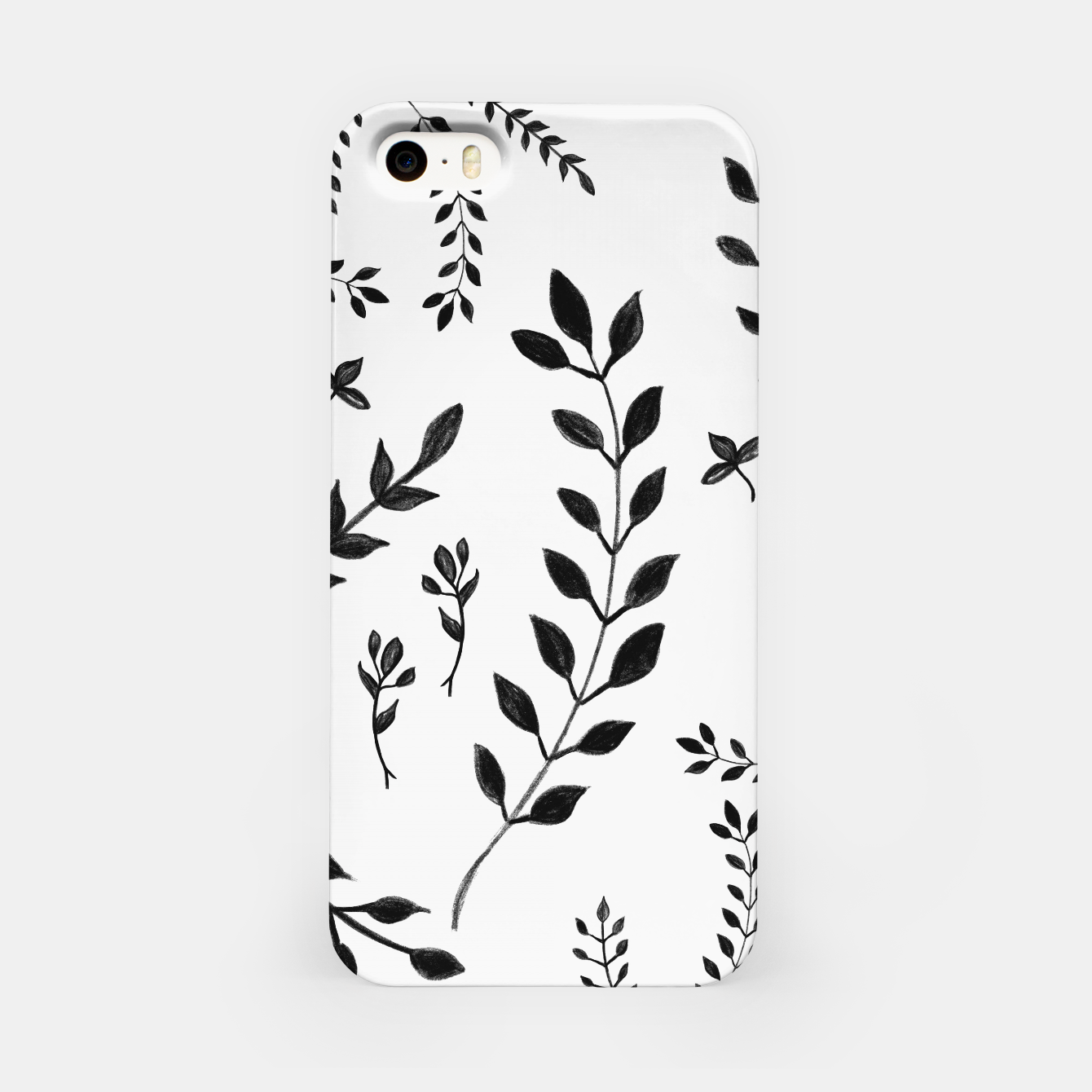 Zdjęcie Black & White Leaves Pattern #4 #drawing #decor #art iPhone-Hülle - Live Heroes