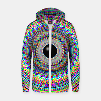 Thumbnail image of Geometric Acid Zip up hoodie, Live Heroes
