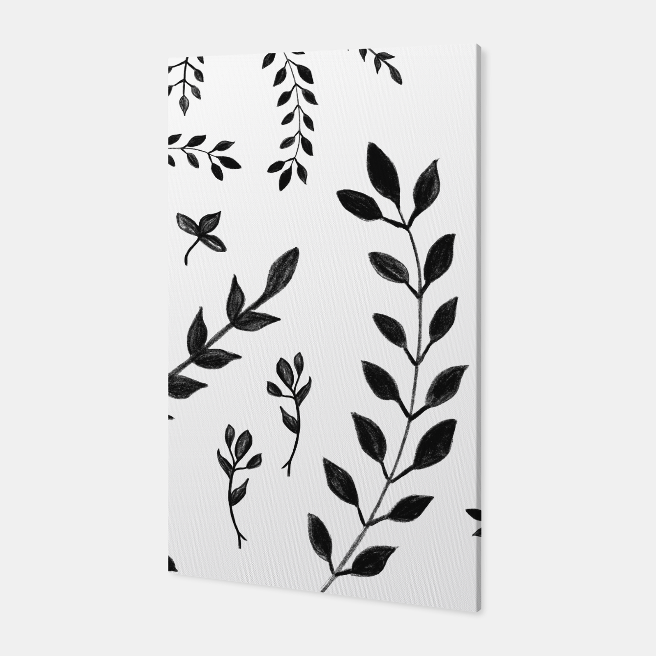 Zdjęcie Black & White Leaves Pattern #4 #drawing #decor #art Canvas - Live Heroes