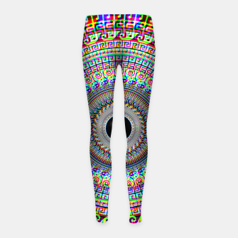 Thumbnail image of Geometric Acid Girl's leggings, Live Heroes