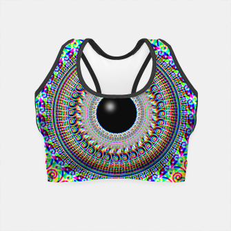 Miniatur Geometric Acid Crop Top, Live Heroes