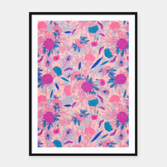 Thumbnail image of Floral Pattern #3 Framed poster, Live Heroes