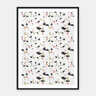 Terrazzo pattern Framed poster thumbnail image