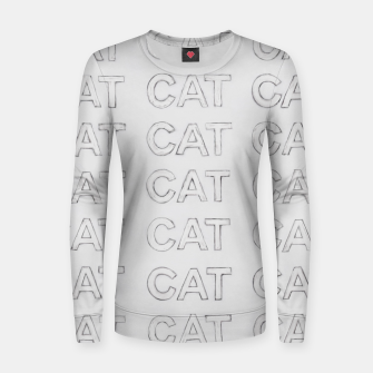 Grey cats Women sweater thumbnail image