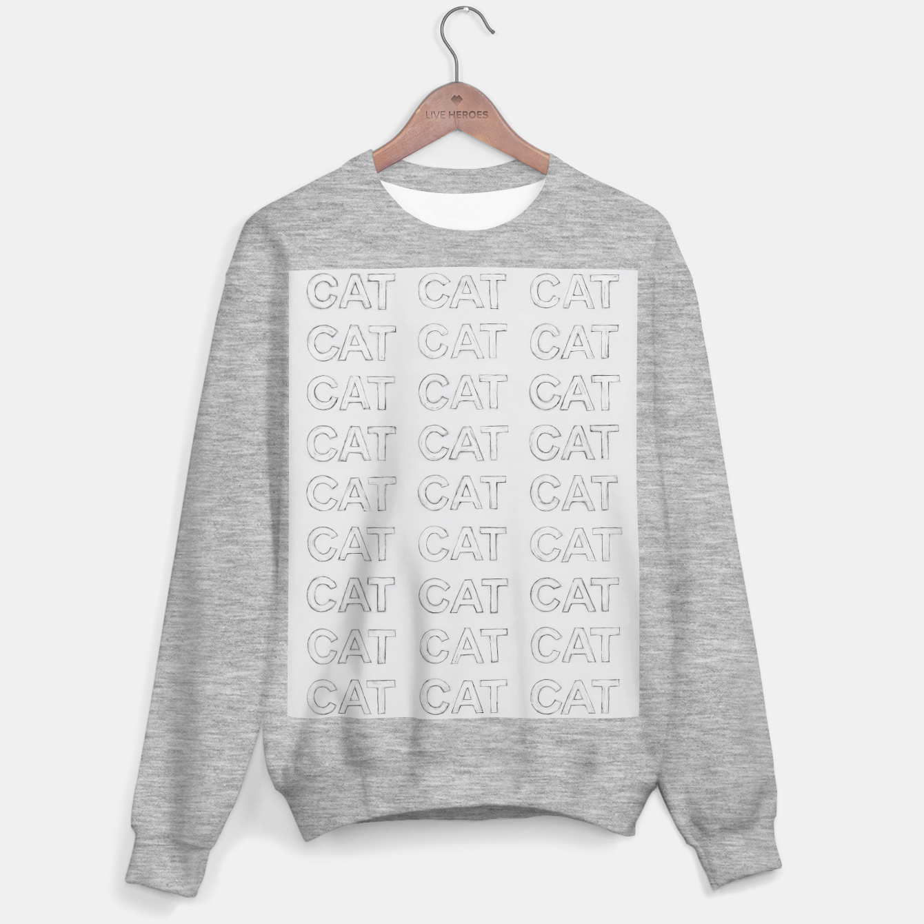 Image of Grey cats Sweater regular - Live Heroes
